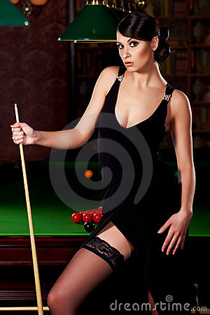 Snooker Girl Royalty Free Stock Photos Image 14392368