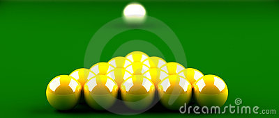 Snooker Golden ball