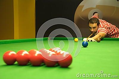 Snooker opening shot