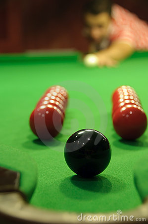 Snooker trickshot