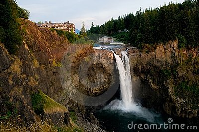 Snoqualmie Falls at Dusk
