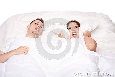Snoring and asleep
