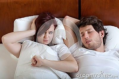 Snoring boyfriend