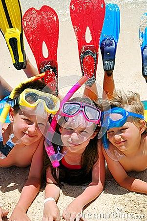 Free Snorkel Kids Royalty Free Stock Photos - 2614878