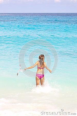 Snorkel Woman