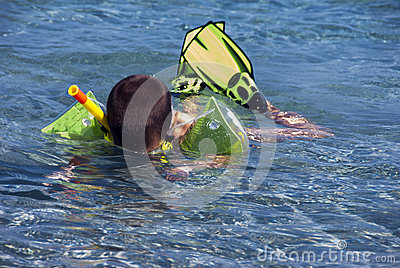 Snorkeler boy