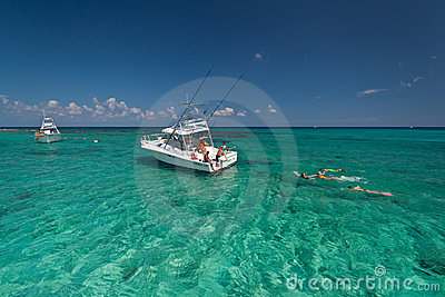 карибское море snorkeling Редакционное Фото
