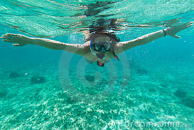Snorkeling in the Caribbean Sea