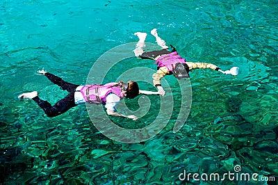 Snorkeling couple