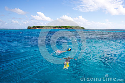 Snorkeling tropical island