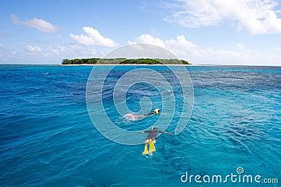Snorkeling tropical island
