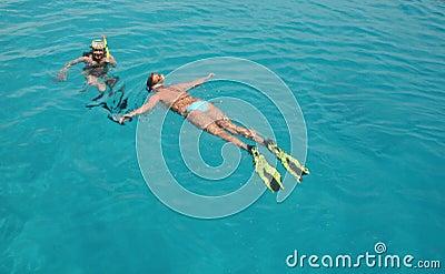 Snorkeling women
