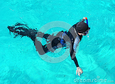 Snorkelling diver Editorial Photography