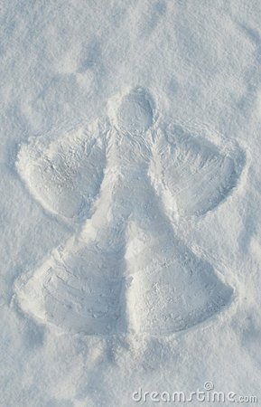 Free Snow Angel Royalty Free Stock Photos - 17724998