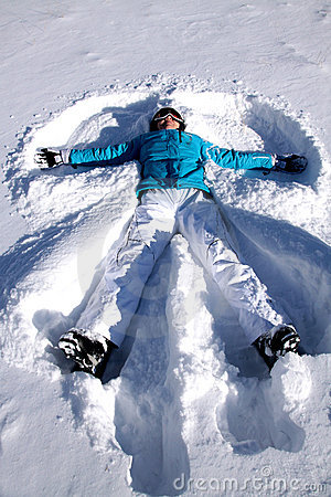 Free Snow Angel Stock Photography - 22988272