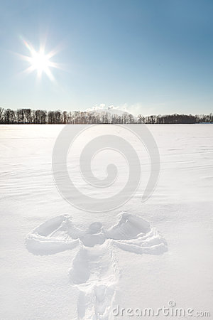 Free Snow Angel Royalty Free Stock Photo - 47388125