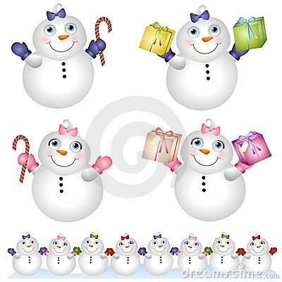 Snow Babies Snowmen 2