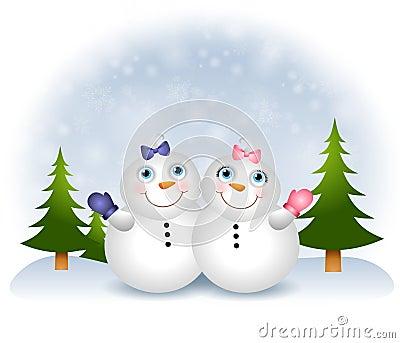Snow Babies Snowmen