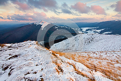 Snow in Bieszczady Mountains