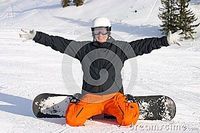 Snow board fun