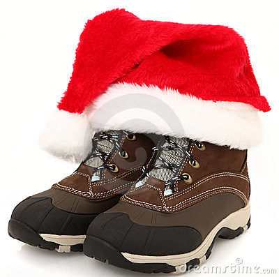 Snow Boots with Santa Hat