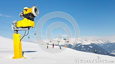 Snow Cannon at Ski Resort