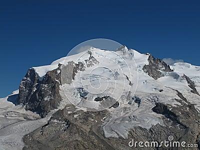 Snow capped Monte Rosa