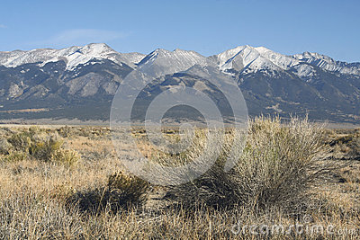 Snow capped Rocky Mountains