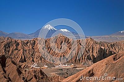 Snow Capped Volcano