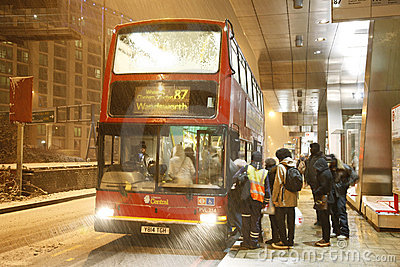 Snow cause travel trouble Editorial Stock Photo