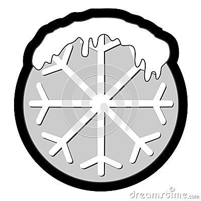 Snow circle icon