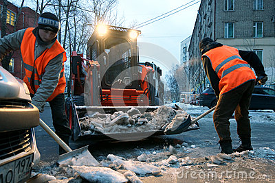 Snow cleaning Editorial Stock Image