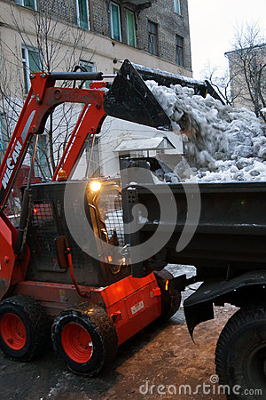 Snow cleaning Editorial Photography