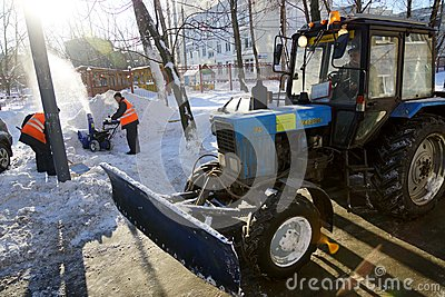 Snow cleaning Editorial Stock Photo
