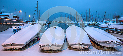 Snow Covered Boats II