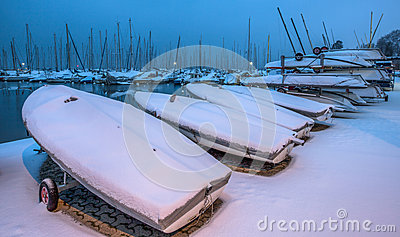 Snow Covered Boats III