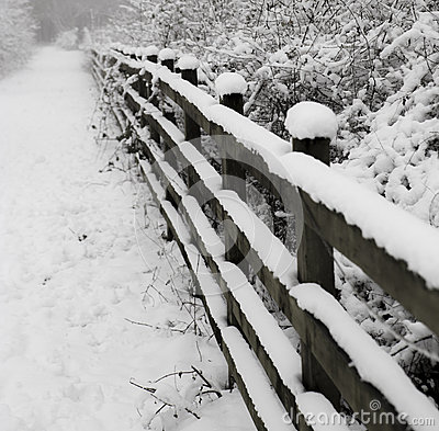 Free Snow Covered Footpath Stock Image - 49235411