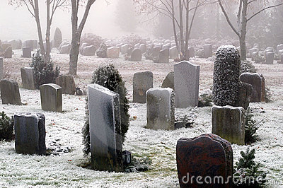 Snow Covered Graves
