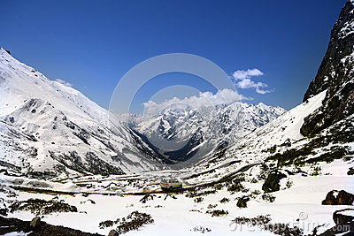 Snow covered Himalayas wallpaper