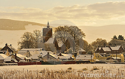 Christmas card scene, Moffat, Scotland