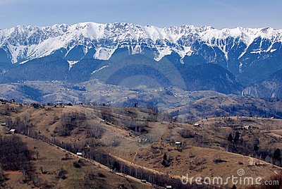 Snow covered mountains in Romania