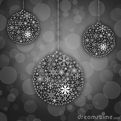 Snow flake ball background