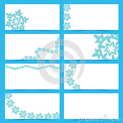 Snow flake cards