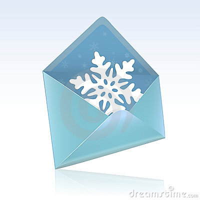 Snow flake christmas greeting