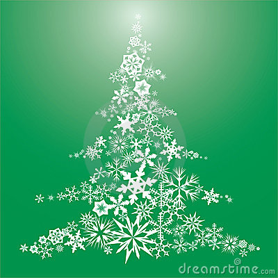 Snow flake Christmas tree