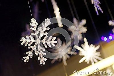 Snow flake cystals