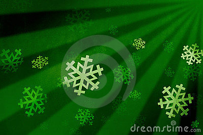 Snow flake green