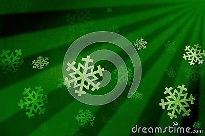 Snow flake green