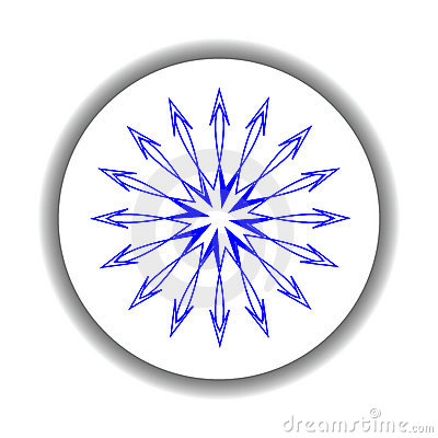 Snow flake medallion 6