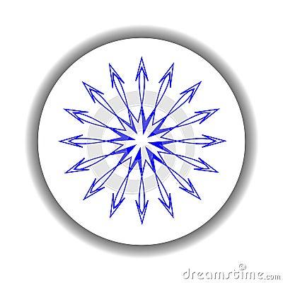 Snow flake medallion 6